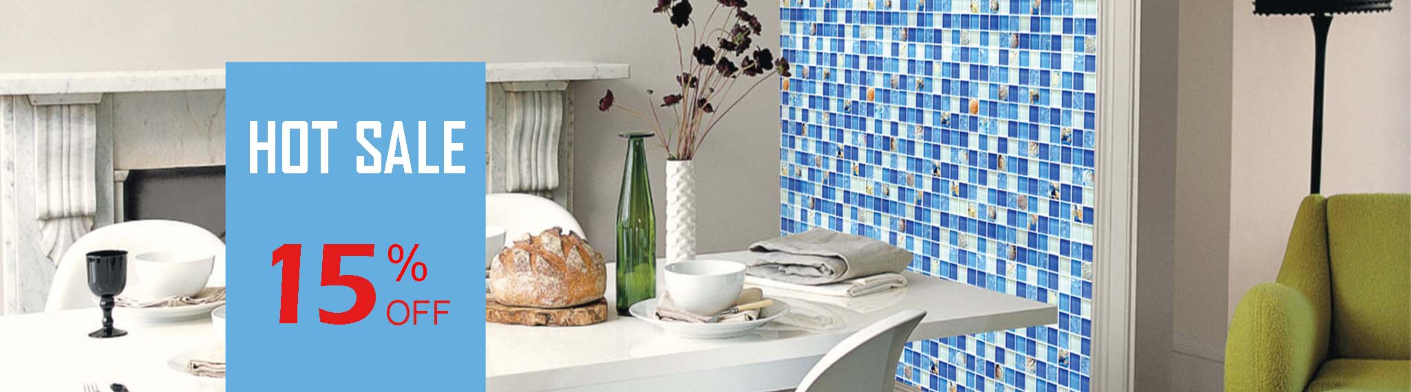 beach style house blue tile backsplash