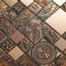 Brown porcelain stainless steel tiles art tile wall backsplash kitchen bathroom deco tiles CTG963