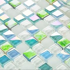 blue crystal glass tile crackle glass wall tile backsplshes decor bathroom wall tiles mirror tile swimming pool tiles KLGT1503