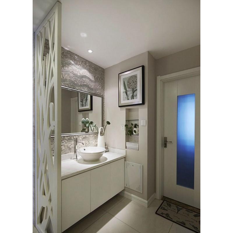 Cream Stone And Glass Mosaic Tile Wave Marble Backsplash Plated Wall Mosaics Floor Tiles Gs001
