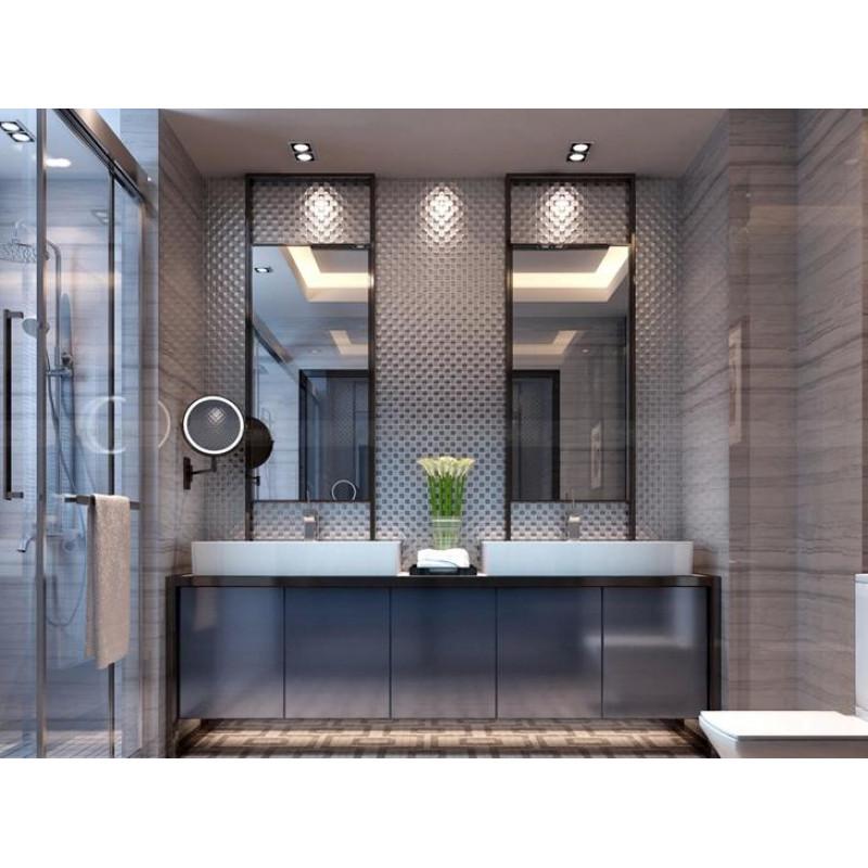 Gold Porcelain Tiles Bathroom Wall Backsplash Glazed: Gray Porcelain Mosaic Glazed Wall Tile Backsplash Floor Tiles