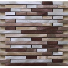 Brushed Aluminum mosaic tiles interlocking tiles wall Backsplash tile kitchen bathroom XGMT010