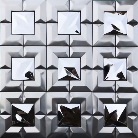 304 Stainless Steel tile Backsplash Cheap Mosaic Tile Metal Wall Tile XGSS01
