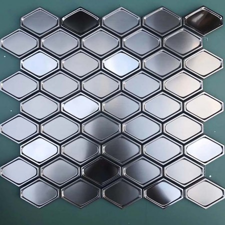 Silver 304 Stainless Steel tile Backsplash decor Mosaic Tile Metal Wall Tile XGSS04