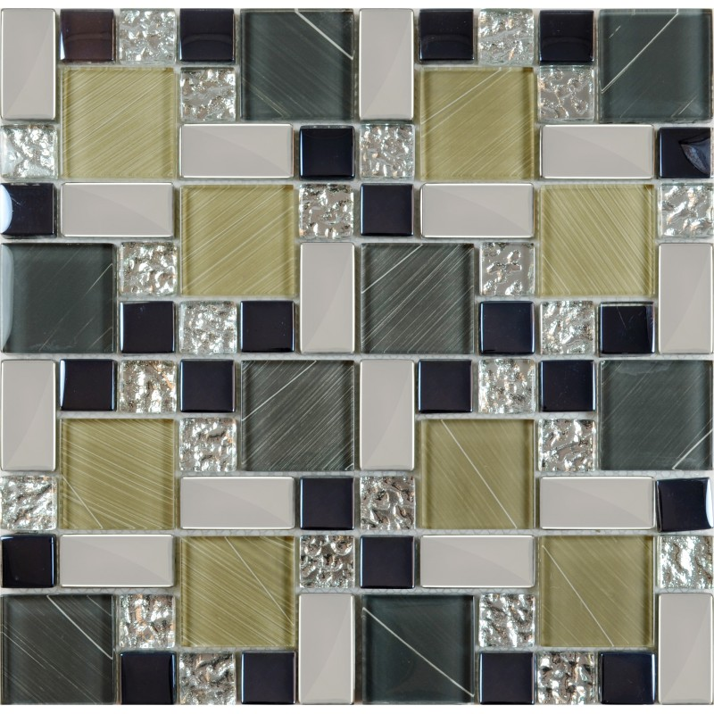 Crystal Glass Tile Sheets Hand Painted Kitchen