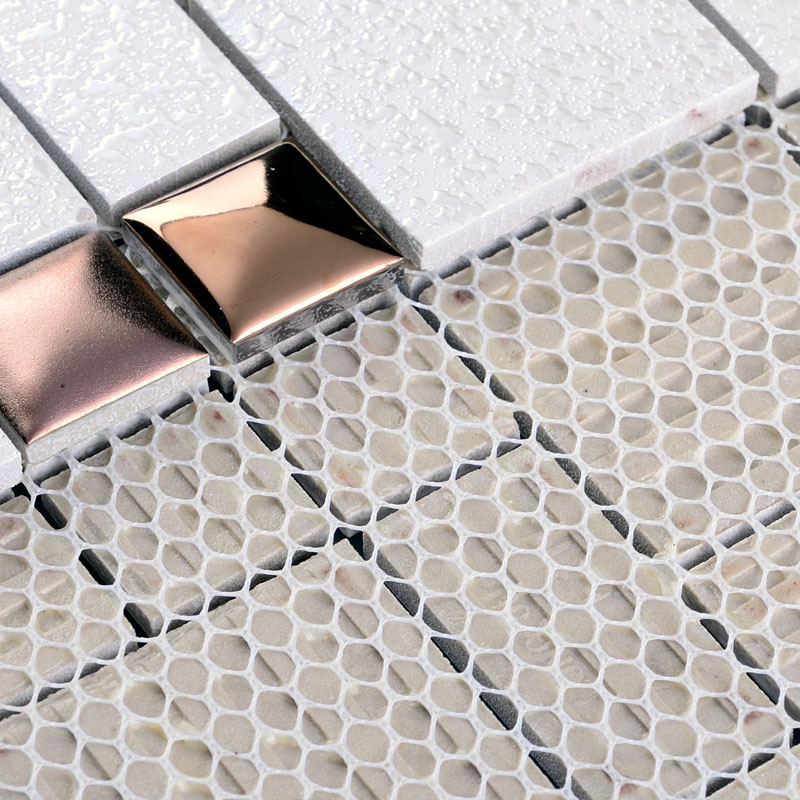 ... Porcelain Mosaic Floor Tile Grey Square Iridescent Tile Kitchen  Backsplash Bathroom Mirror Wall Art ...