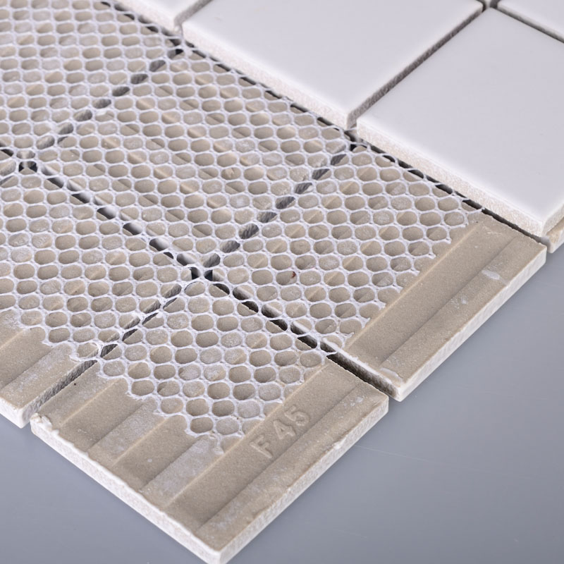Wholesale porcelain floor tile mosaic white square brick for Ceramic tile