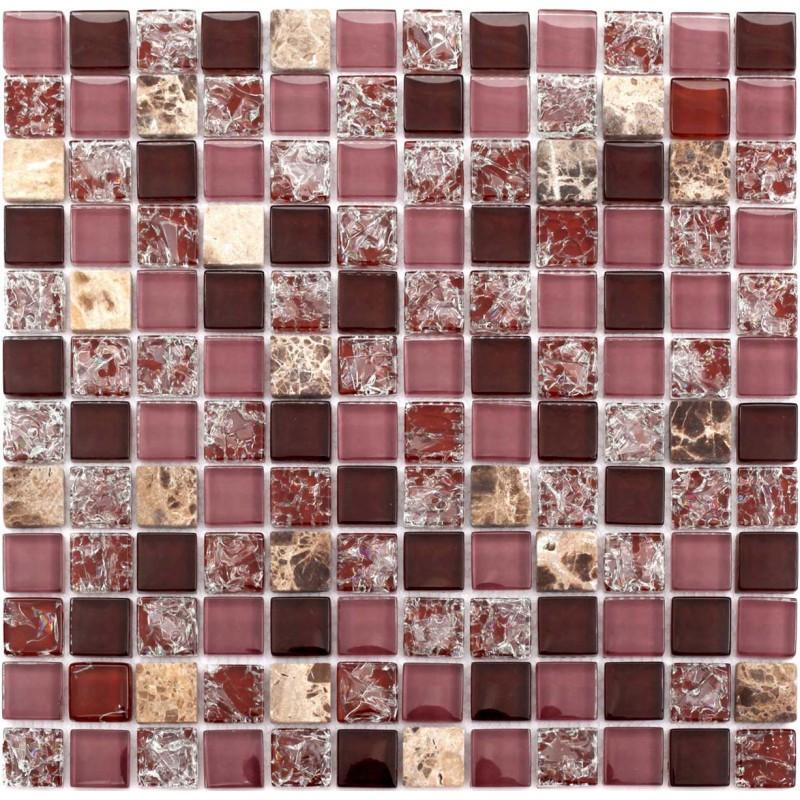 Stone Glass Mosaic Tile Brown Square Tiles Cheap Marble Tile ...