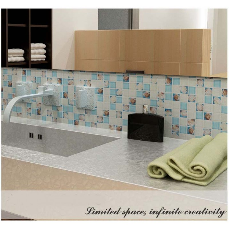 mosaic tile crystal glass shell tile backsplash crackle design bathroom tiles for wall backsplash