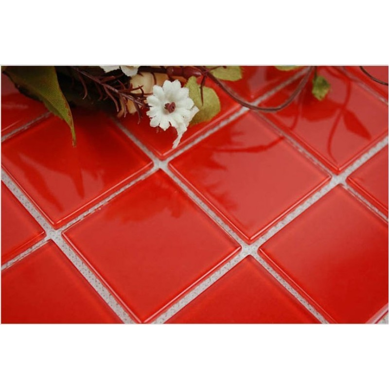 Bathroom Tiles Red wholesale vitreous mosaic tile crystal glass backsplash of kitchen