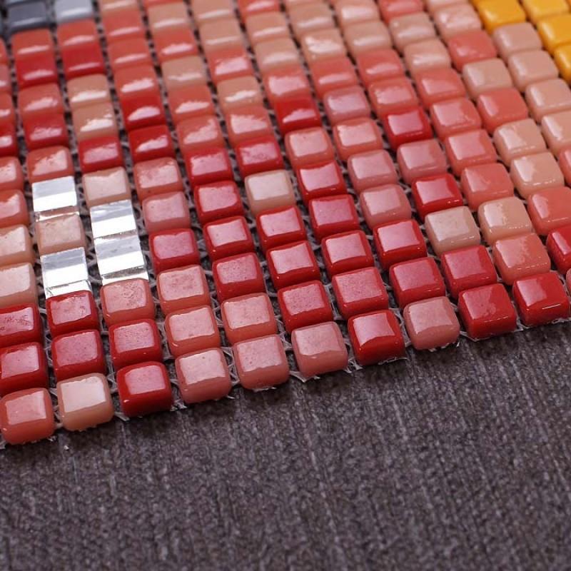 Wholesale vitreous mosaic tile pattern glazed crystal for Craft mosaic tiles bulk