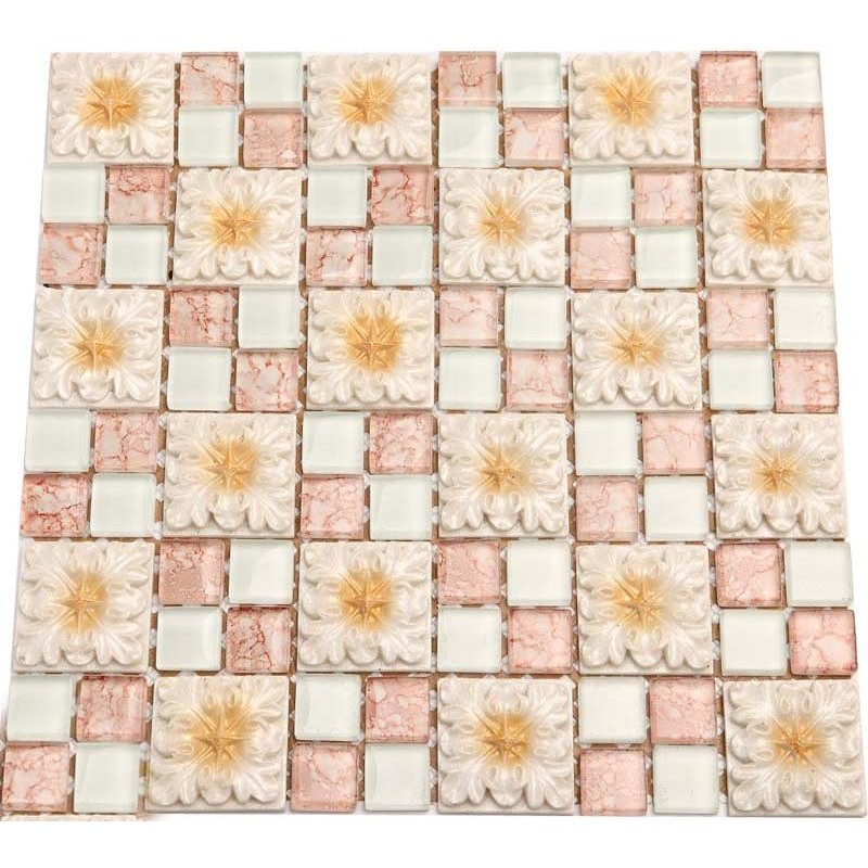 Wholesale Mosaic Tile Crystal Glass Backsplash Bedroom Design ...