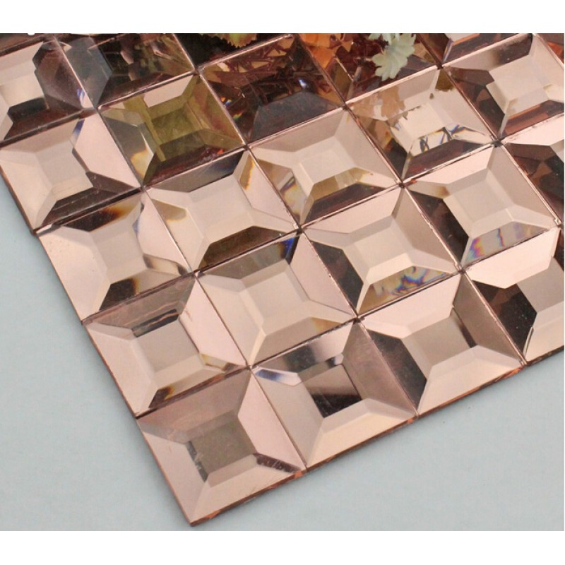 crystal glass mosaic tile mirror tile wall backsplashes