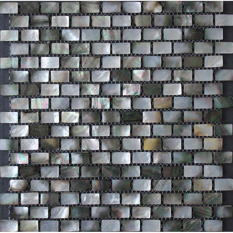 Seashell Backsplash Tile: Black Lip Seashell Mosaic Mother Of Pearl Subway Tile
