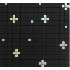 Metallic Mosaic Tile Black Square Brushed Aluminum Metal Wall Decoration Kitchen Backsplash MH-202-1