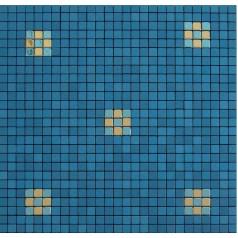 Metallic Mosaic Tile Blue Square Brushed Aluminum Metal Wall Decoration Kitchen Backsplash MH-202-2