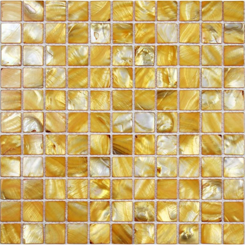 Kitchen Backsplash Yellow tiles 100% yellow seashell mosaic mother of pearl tiles kitchen
