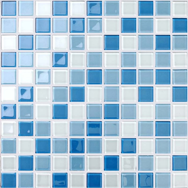 glass mosaic for swimming pool tile blue white mix crystal backsplash