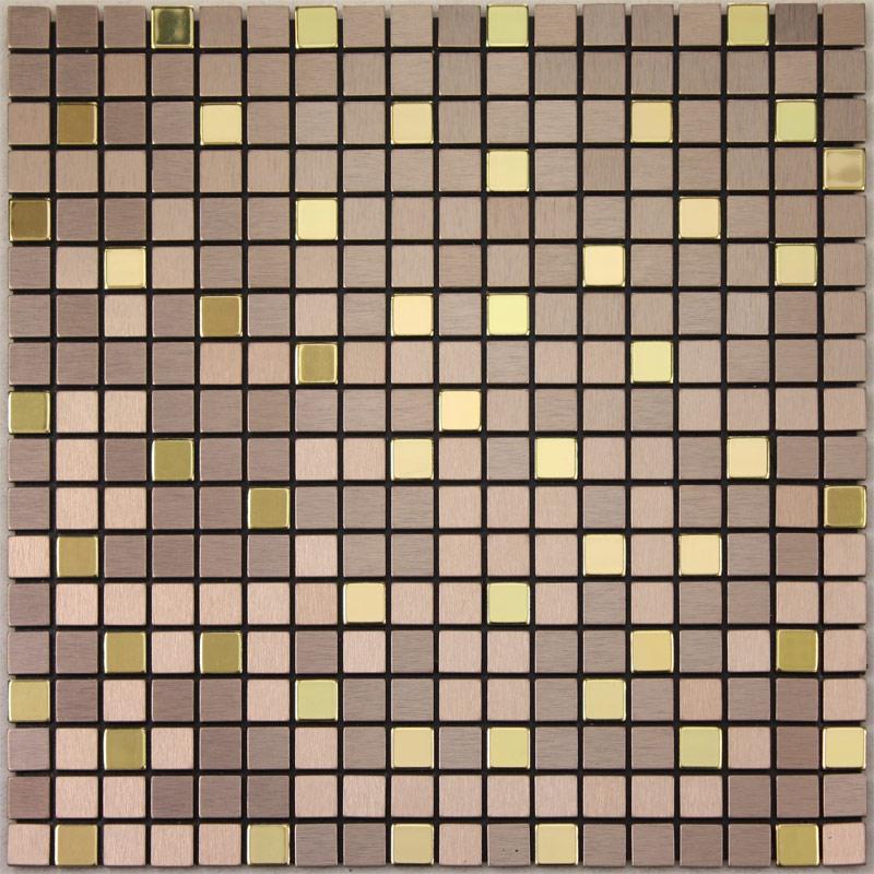 adsive mosaic tile backsplash square brushed metal wall deco