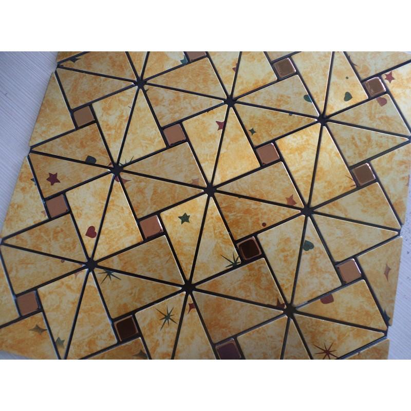 Peel and Stick Tile Pinwheel Patterns Aluminum Metal Wall Tile Glass ...