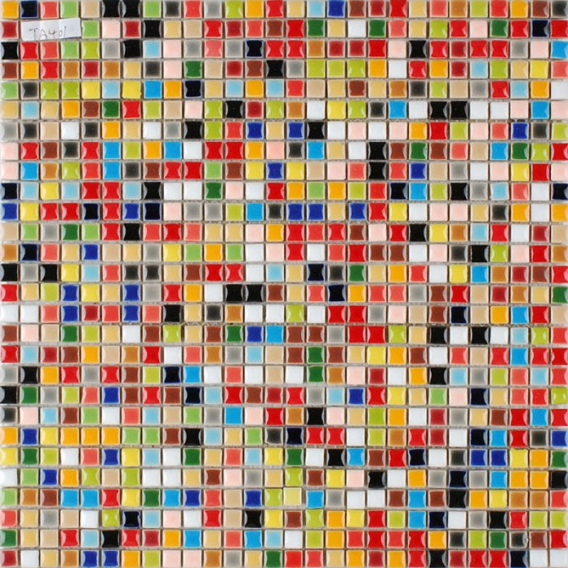 Glaze Porcelain Mosaic Tile Colorful Kitchen Wall Tiles Small Ceramic