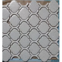 Cheap Porcelain Floor Tiles Arabesque Art Ceramic Mosaic Bathroom Wall Backsplash Grey GLTCA01