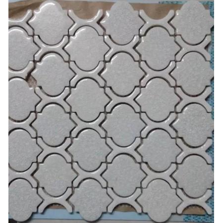 Cheap Porcelain Floor Tiles Arabesque Art Ceramic Mosaic Bathroom Wall Backsplash Grey GLTCA01