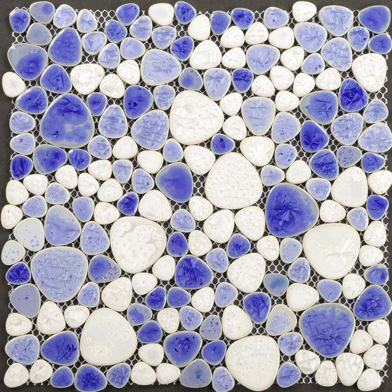 Wholesale Collection Mixed Porcelain Pebble Tile Sheets