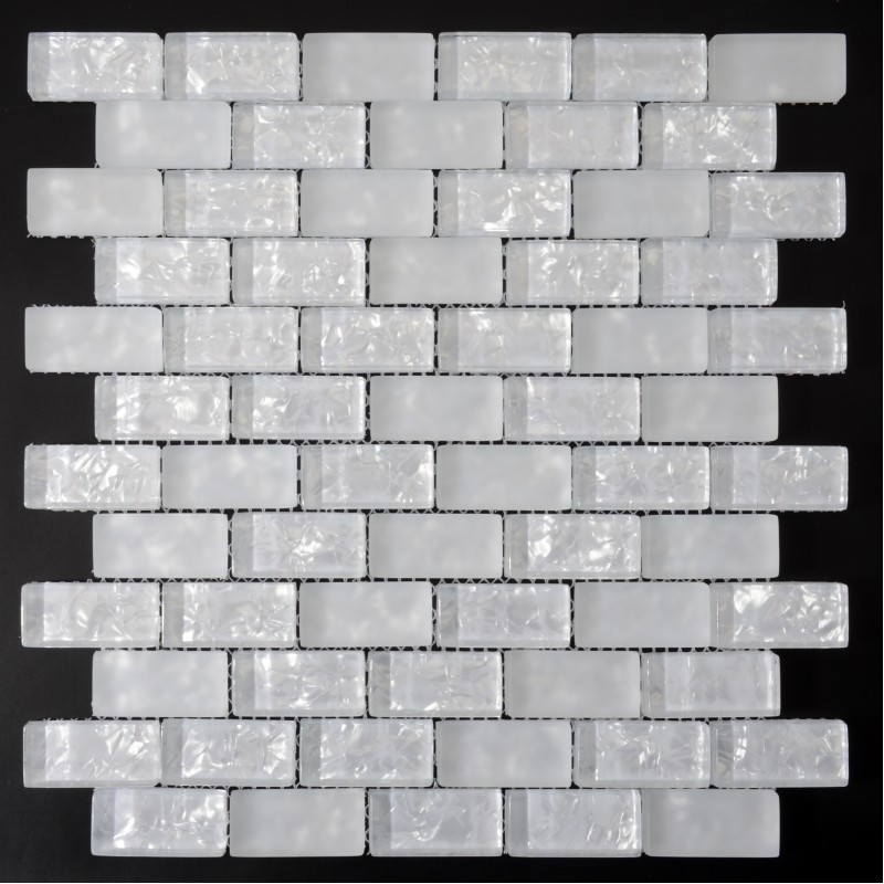 White Subway Tiles Crackle Crystal Backsplash Kitchen Wall Tile