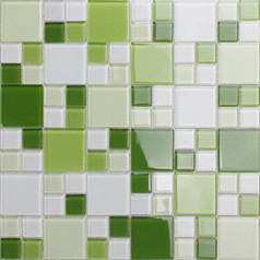 Mosaic Tile Crystal Glass Backsplash Kitchen Countertop Green Bathroom Wall Floor Tile CL162