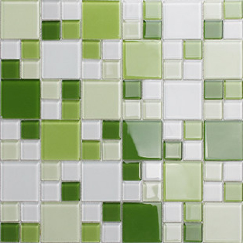 Mosaic Tile Crystal Gl Backsplash Kitchen Countertop Green Bathroom Wall Floor Cl162