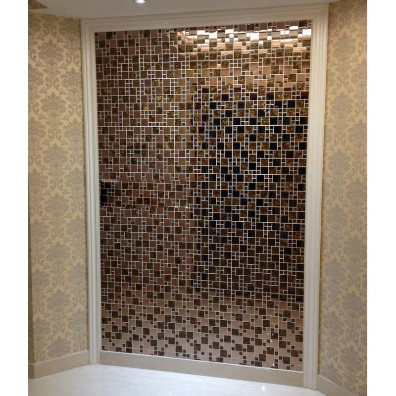 Steel Backsplash Tiles: Gold Glass Mosaic Tile Backsplash Stainless Steel Metal