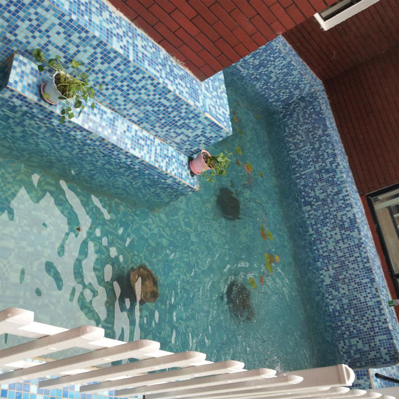 ... Mosaic Tile Crystal Glass Backsplash Washroom Design Bathroom Wall Floor  Swimming Pool Tiles Blue