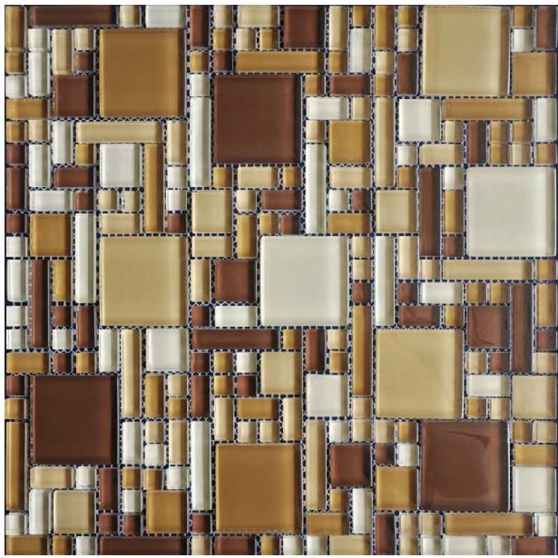 Wholesale mosaic tile crystal glass backsplash kitchen countertop design shower bathroom wall Bathroom tiles design catalog