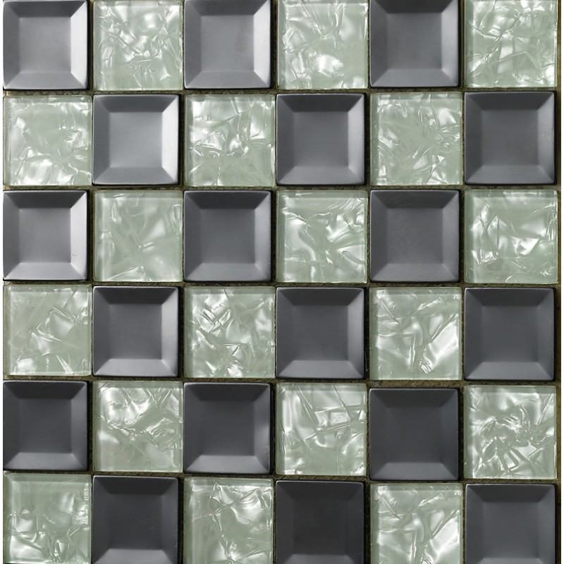 Mosaic Bathroom Tile Ideas: Glass Mosaic Tiles Blacksplash Crystal Mosaic Tile