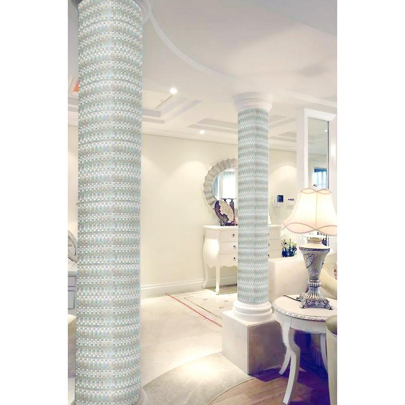 Glass Mosaic Tile Interlocking Arched Crystal Backsplash Yf 89 Iridescent Wall Tiles