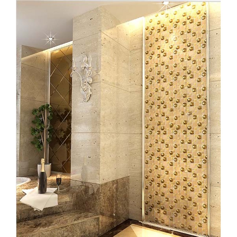 ... Glazeb Porcelain Glass Tile Wall Backsplash Crystal Art Pattern Design Mosaic  Tiles Plated Mirror Part 79