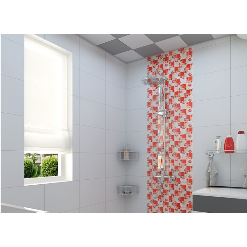 Red Glass Mosaic Tiles Crackle Tile Hand Paint Tile Kitchen Wall TV Wall  Backsplashes Decor KLGT371