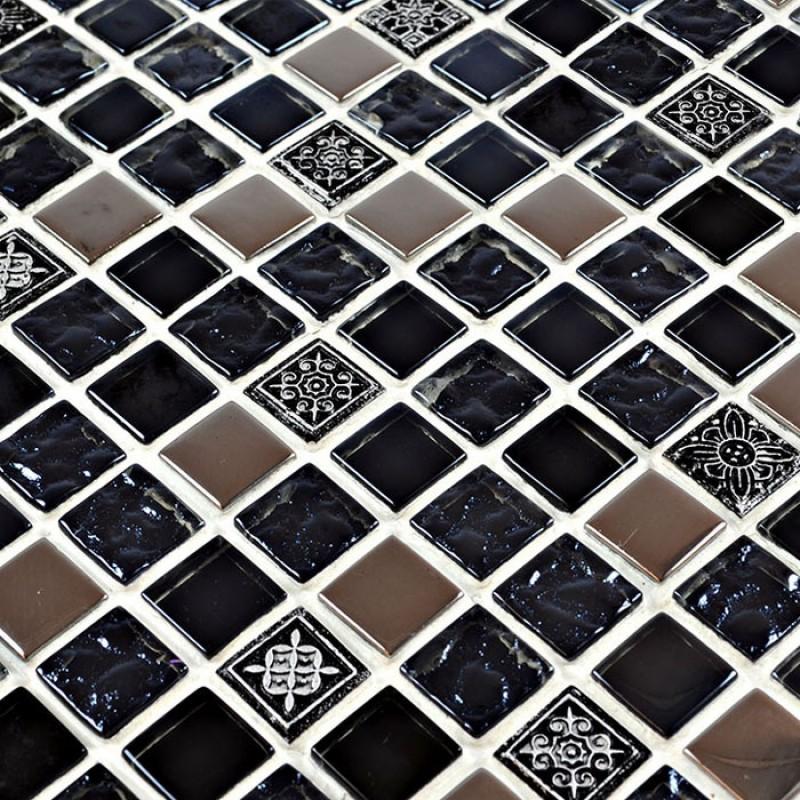 black glass tile silver glass mosaic tiles crystal glass tile kitchen