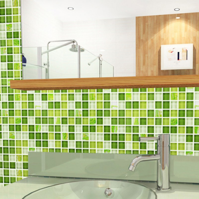 green mosaic bathroom tiles mosaic tile glass backsplash dinner 18579
