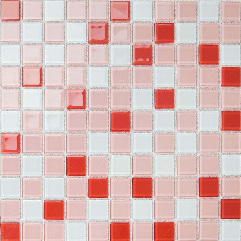 Red And White Kitchen Tiles Cabinets