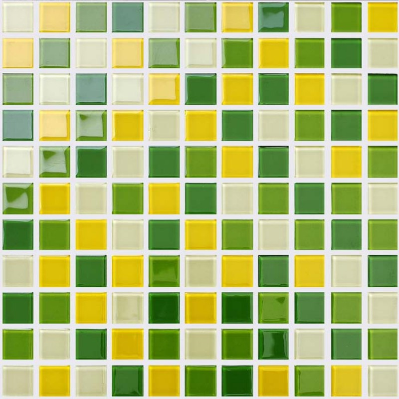 Wholesale Glass Mosaic For Swimming Pool Tile Sheet Green