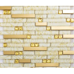 crystal glass tiles gold stainless steel tile with base kitchen wall backsplash interlocking tile bathroom diamond mosaic KLGTM05