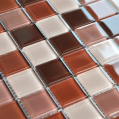 Crystal Glass Mosaic Tile Brown Kitchen Backsplash Designs Bathroom Wall Bathroom Flooring
