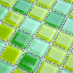 Crystal Glass Mosaic Tiles Backsplash Design  Kitchen Bathroom Wall Floor Stickers