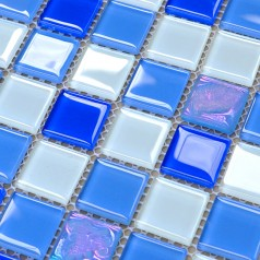 Crystal Glass Mosaic Tiles Design Kitchen Bathroom Wall Floor Backsplash Stickers