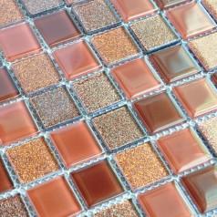Crystal Glass Mosaic Tiles Kitchen Backsplash Design Bathroom Wall Floor Shower