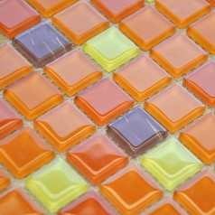Crystal Glass Mosaic Tiles Kitchen Backsplash Design Bathroom Wall Flooring
