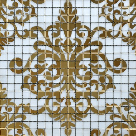 Crystal Glass Tile Gold Mosaic Collages Design Interior Wall Tile Murals Bathroom Decoration Shower Wall Tiles Designs