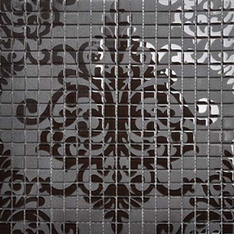 Crystal Glass Tile Black Mosaic Collages Design Interior Wall Tile ...